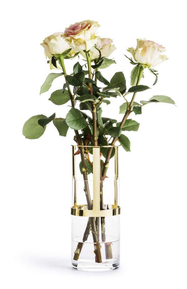 Sagaform gold adjustable vase