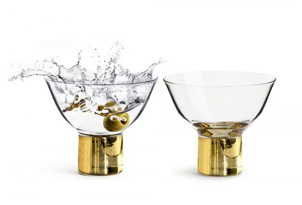 Club gold cocktail glass