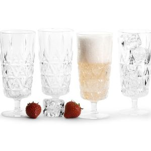 sagaform picnic champagne glasses