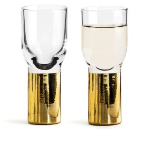 sagaform gold shot glass